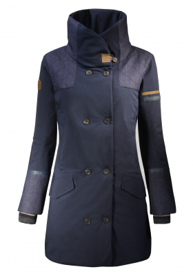 MANTEAU CITY WOOL marine
